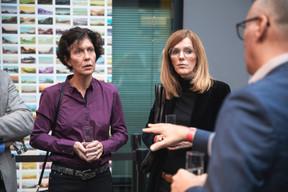 Elizabeth Reckinger (Université du Luxembourg) à gauche ((Photo: Simon Verjus/Maison Moderne))