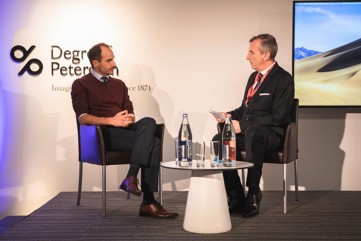 Christos Christou (Médecins Sans Frontières) et Jim Kent (Maison Moderne) (Photo: Simon Verjus/Maison Moderne)