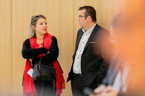 Céline Umbdenstock (Kaufhold & Reveillaud) et Nicolas Léonard (Paperjam) ((Photo: Jan Hanrion / Maison Moderne))