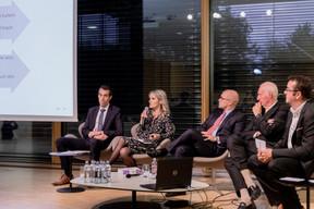 Pol Mellina, Gaëlle Felly, Daniel Riedel, Alain Steichen (Bonn Steichen & Partners) et Nicolas Léonard (Paperjam) ((Photo: Jan Hanrion / Maison Moderne))