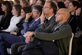 Xavier Denis (AG Real Estate) et Vincent Bechet (INOWAI) à droite ((Photo: Jan Hanrion / Maison Moderne))