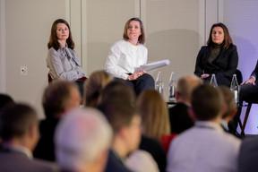 Jessica Bauldry (Delano) , Céline Coubray (Paperjam Architecture + Real Estate ) et Sheelam Chadha (Patrizia) ((Photo: Jan Hanrion / Maison Moderne))