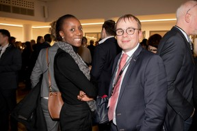 Séverine Nlandu (BNP Paribas) et Daniel Hilbert (BDO Luxembourg) ((Photo: Jan Hanrion / Maison Moderne))