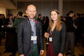 Frédéric Fauveaux (Venture Corporate Group) et Léa Guignard (Maison moderne) ((Photo: Jan Hanrion / Maison Moderne))