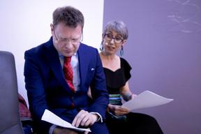 Jean-Michel Gaudron et Anne-Claire Delval (Co-Auteurs du livre) ((Photo: Jan Hanrion/Maison Moderne))