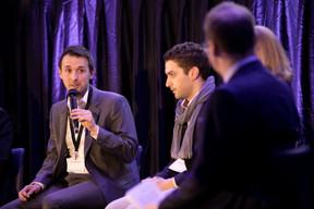 Tom Baumert (Chambre de Commerce) et Gianluca Marinelli (Jonk Entrepreuneuren Luxembourg asbl) ((Photo: Jan Hanrion/Maison Moderne))