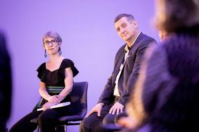 Anne-Claire Delval (Co-auteur du livre) et Romain Schmit (Fédération des Artisans) ((Photo: Jan Hanrion/Maison Moderne))