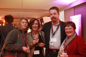 Annick De Meel (Fidentia), Carine Van Bever (KBC), Kim Creten (KBC) et Astrid Schlesser (BDL) ((Photo: Valéry Trillaud))