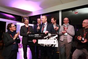 Paul Stasse (aCMG), Jean Leclercq (Ulink), Didier Peremans (DDS +), Jean-Nicolas Montrieux (Inowai), Renaud Jacquet (Immo Louis De Waele), Michel Knepper (Grossfeld) et Cédric Callens (A2RC) ((Photo: Valéry Trillaud))