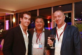 Jordan Bem (Arizona Investments), Gabriel Bandayan (Bil) et Frank Bem (Arizona Investments) ((Photo: Valéry Trillaud))