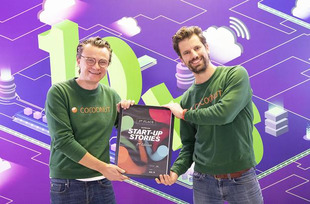 Nicolas Legay et Aurélien Dobbels ont fait de Cocoonut la nouvelle lauréate des Start-up Stories organisées par le Paperjam Club. La start-up répond au délicat problème du logement au Luxembourg. (Photo: Simon Verjus / Maison Moderne)