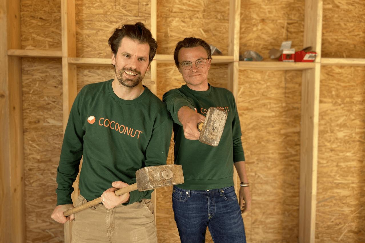 Nicolas Legay et Aurélien Dobbels ont cofondé la start-up Cocoonut, spécialisée dans le coliving au Luxembourg. (Photo: Cocoonut)