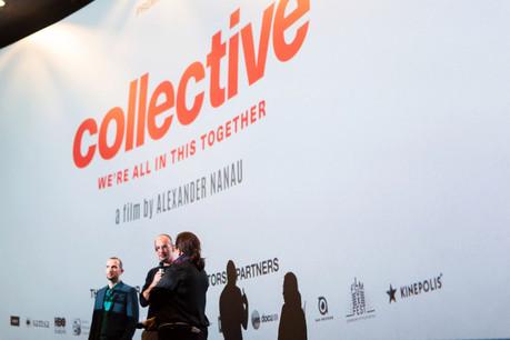 Bernard Michaux et le réalisateur de«Collective», Alexander Nanau, lors d'une projection au Luxembourg. (Photo: Massimo Cataldo)