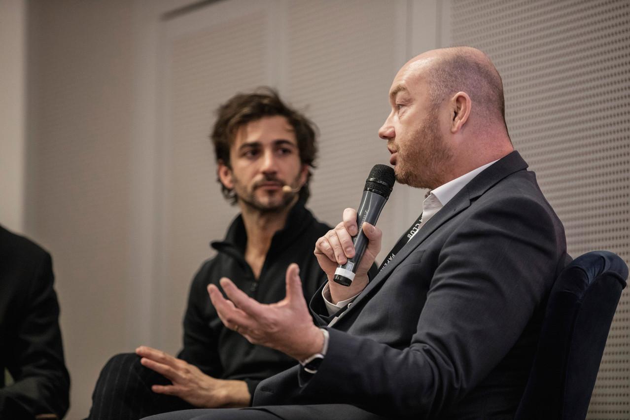 Ici, aux côtés de Cyril Paglino (Starchain), FabriceCroiseaux (InTech) détaille les fondamentaux du bitcoin au moment où la monnaie atteint 50.000 dollars l'unité. (Photo: Archives Maison Moderne)