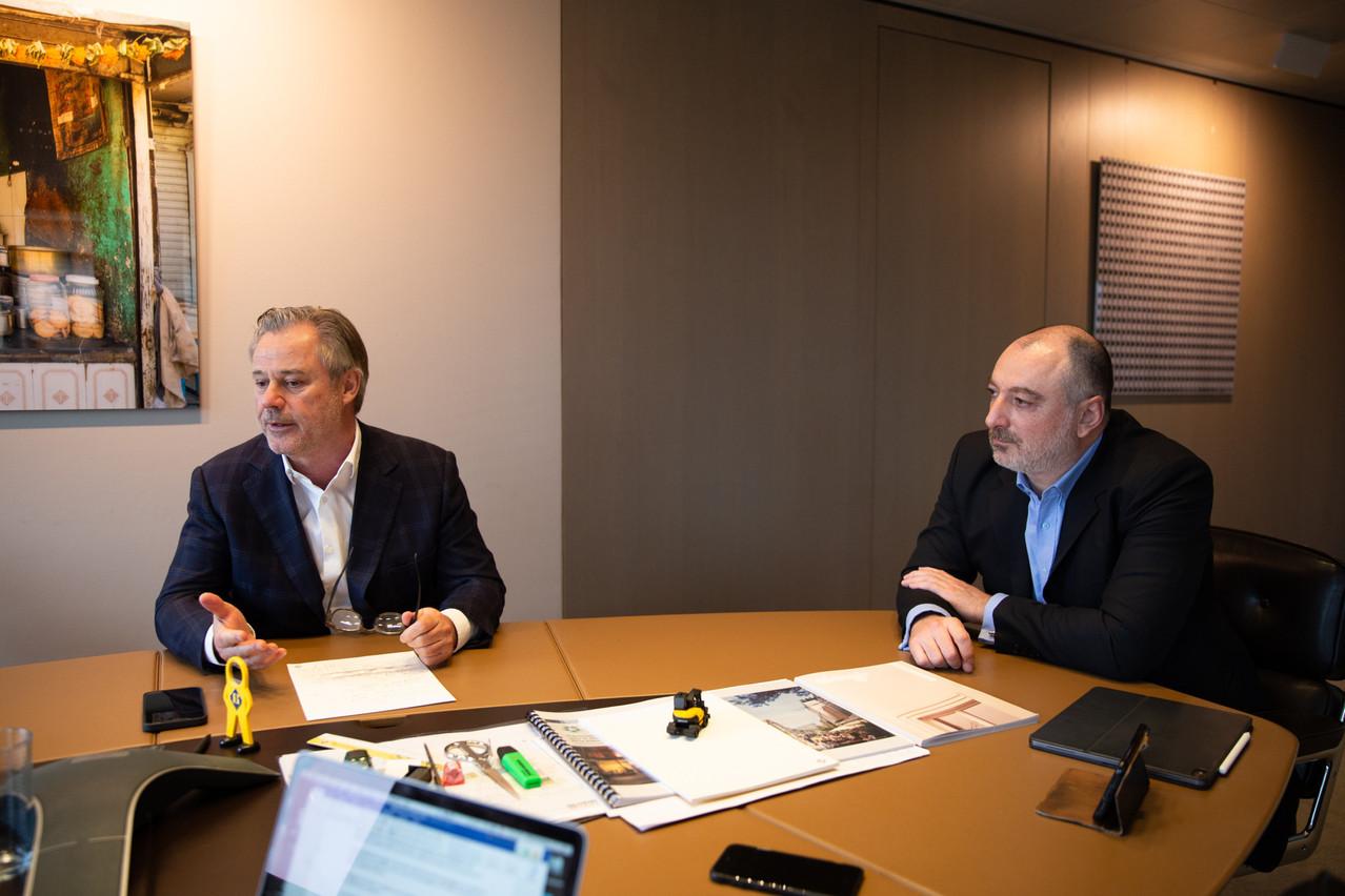 Marc Giorgetti, Julien Ghata et Amaury Evrard (en visioconférence) s'expriment sur les tendances 2021 de l'immobilier. (Photo: Romain Gamba/Maison Moderne)