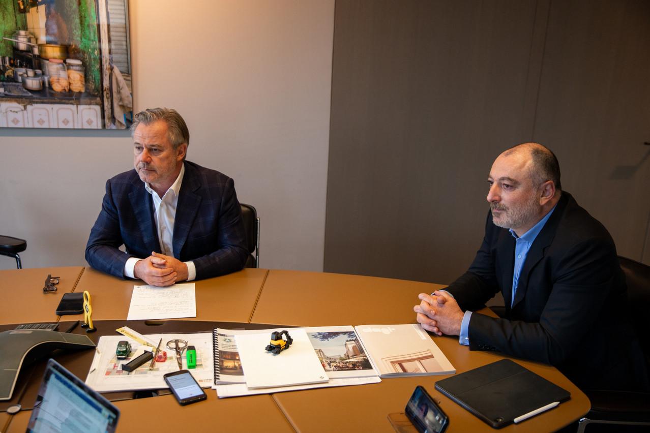 L'immobilier reste une valeur sûre, que ce soit pour Marc Giorgetti ou Julien Ghata. (Photo: Romain Gamba/Maison Moderne)