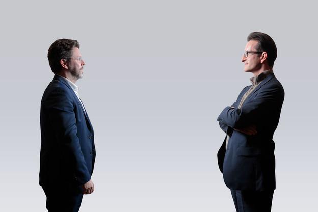 Nicolas Henckes et Carlo Thelen dressent un état des lieux de la situation du e-commerce au Luxembourg. (Photos: Matic Zorman/Maison Moderne)