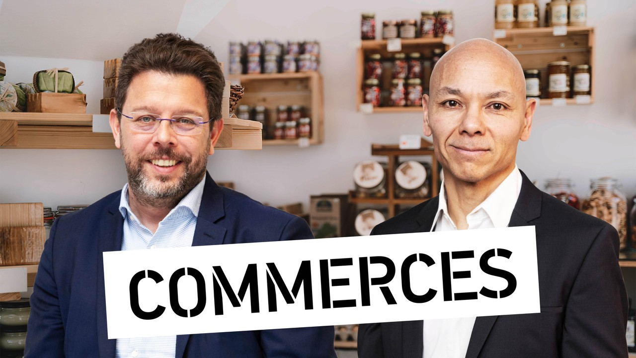 Nicolas Henckes, directeur de la clc, et Jean-Marie In, Head of Retail & Industrial BeLux d'INOWAI Montage: Maison Moderne