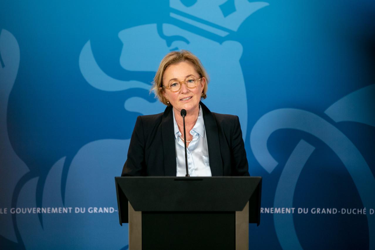 La ministre de la Santé Paulette Lenert constate une amélioration de la situation dans les hôpitaux. (Photo: Romain Gamba / Maison Moderne)