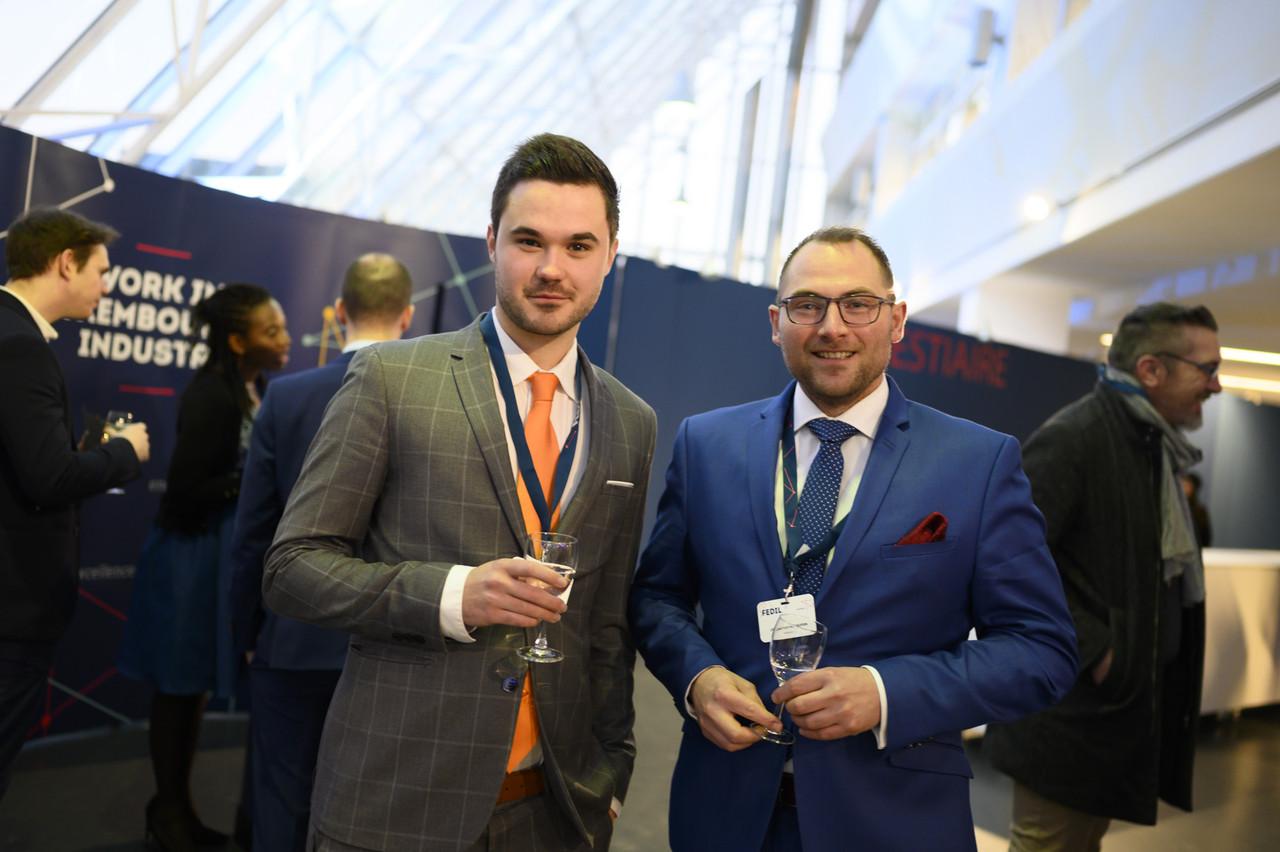 Olivier Rozet (à gauche) & Jonathan Marroyen (à droite): «À nous de contribuer à un monde innovant où prospérité économique et bien-être au travail ne font qu'un.» (Photo: Fédil)