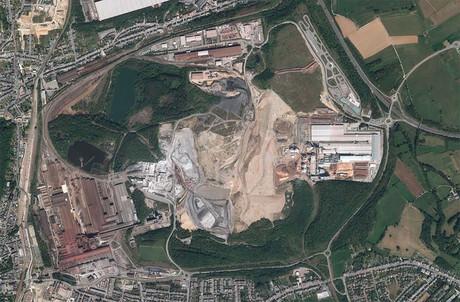 Le dépôt de déchets industriels s'étend sur 150 hectares entre Differdange et Sanem, héritage non désiré de l'industrie sidérurgique. (Photo:Capture d'écran Geoportail.lu)