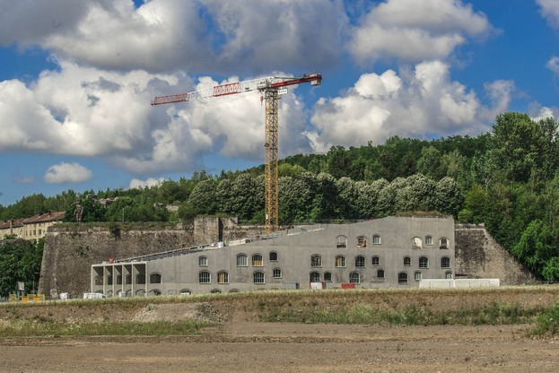 Le Pôle culturel de Micheville, qui est actuellement en construction, accueillera des projets dans le cadre d'Esch2022. (Photo:Daniel Brachetti)