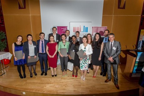 The graduates of the Master in Wealth Management course are the first to graduate from this course, launched in 2013.  (Photo: Michel Brumat / Université du Luxembourg)