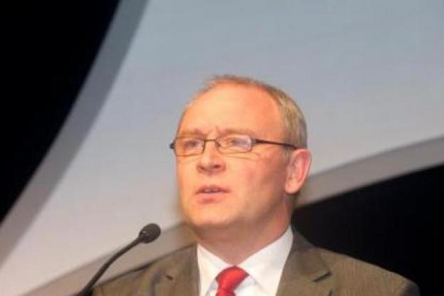 Luc Defieuw, directeur général d'Alcatel-Lucent Bell en Belgique (Photo : Charles Caratini/archives)