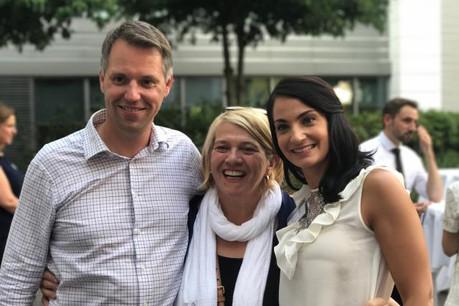Léa Linster, Patrick Mischo et Marine Tarditi. (Photo: Allen & Overy)