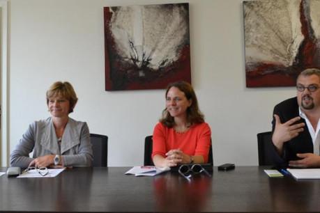 Francine Colling-Kahn, Corinne Cahen et Mike Hagen (Photo: MFAMIGR)