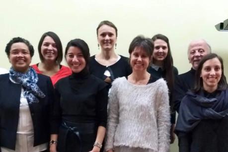 Six porteurs de projet se sont présentés devant un comité composé de membres de la Fondation Tremplin abritée sous l'égide de la Fondation de Luxembourg, du Ministère du Travail, de l'Emploi et de l'Économie Sociale et Solidaire ainsi que de nyuko. (Photo: Nyuko)