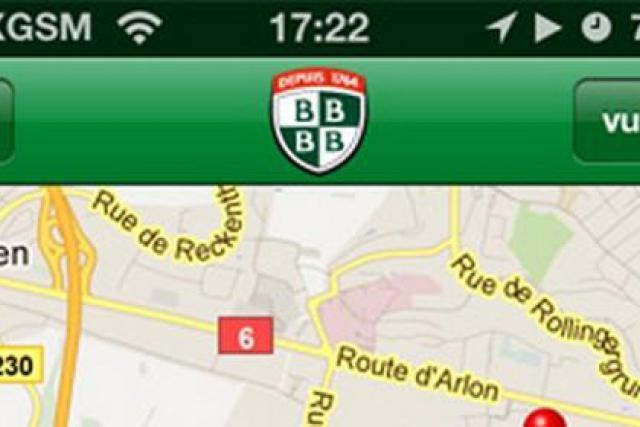 l'apL'application Bofferding vous permet de localiser les bars qui servent la bière. (Visuel: Bofferding)