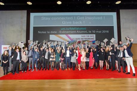 Les étudiants de deux facultés de l'Université du Luxembourg ont célébré leur remise de diplômes. (Photo: Michel Brumat / Université du Luxembourg)