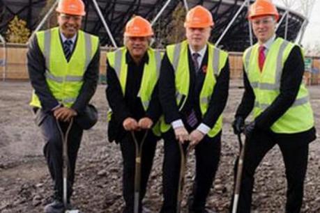 Start of construction work on the ArcelorMittal Orbit – London's newest major landmark. (Photo: ArcelorMittal)