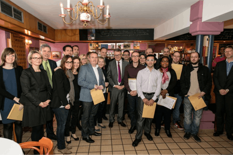 Les participants au parcours Fit4Entrepreneurship ont été mis à l'honneur au café littéraire Le Bovary, un des projets d'entreprise ayant vu le jour à l'issue du programme Fit4Entrepreneurship. (Photo: Chambre de Commerce)