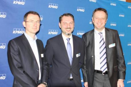 From left to right: Mr Vincent Koller, Philippe Borremans (speaker), Georges Bock (Managing Partner KPMG).  (Photo: KPMG)