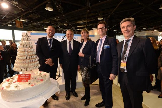 Étienne Schneider, Paul Zilk, CEO de Reed Midem, Lydie Polfer, Carlo Thelen et Paul Dühr, ambassadeur du Luxembourg en France (Photo: Chambre de Commerce)