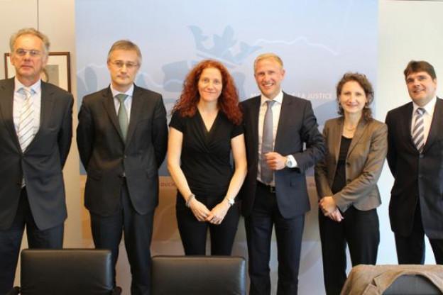 Le ministre de la Justice a accueilli une délégation de l'ALMA. (Photo: Alma)