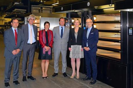 Jean Offermann, Marco Walentiny, Simone Polfer, ministère de l'Économie, Ferdinand Hein, Francine Closener et Pierre Thein. (Photo: MECO)