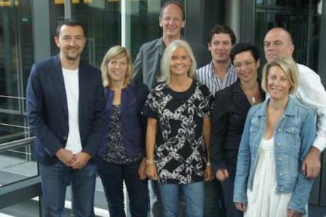 Dan Dechman, Laure Elsen, Claude Muller, Kristof della Siega, Camile Groff, Françoise Reuter, Netty Thines et Carole Platz (Photo : MarkCom)