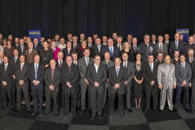 Goodyear a récemment honoré 140 de ses collaborateurs pour 25, 30, 35 et 40 années de service. (Photo: Goodyear)