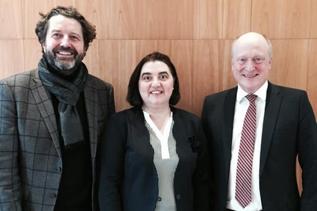 Guy Daleiden, vice-president, Iveta Dimova, general secretary, Peter Dinges, president. (Photo: Film Fund Luxembourg)