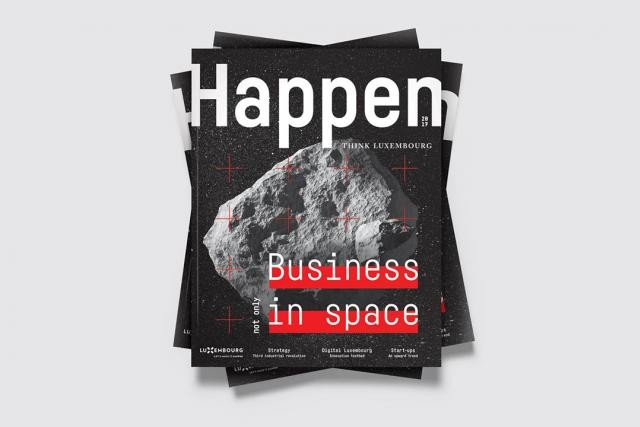 Happen Issue #1 weighs in at just under 100 pages of in-depth interviews, articles about Luxembourg's key economic sectors, photoshoots, benchmarks and much more from the world of business. (Photo: Maison Moderne)
