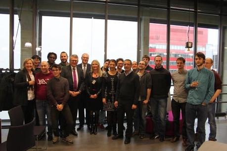 Nicolas Schmit, ministre du Travail, de l'Emploi et de l'Économie sociale et solidaire, avec la première promotion de l'école WebForce3. (Photo: MTEESS)
