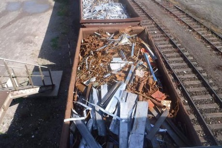 Les obus retrouvés dans les wagons ce lundi matin. (Photo: ministère de l'Intérieur)