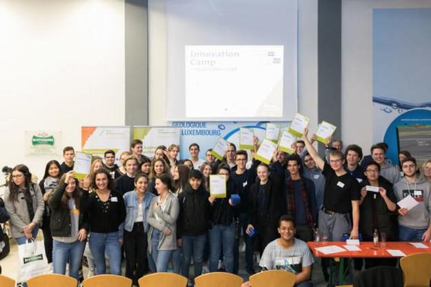 50 élèves de 10 lycées ont participé au Innovation Camp et ont tenté de trouver des idées et solutions innovantes au Business Challenge. (Photo: Jonk Entrepreneuren Luxembourg)