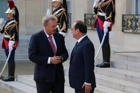 Jean Asselborn et François Hollande lors de la réunion informelle des dirigeants sociaux-démocrates ce jeudi 23 octobre. (Photo: MAEE)
