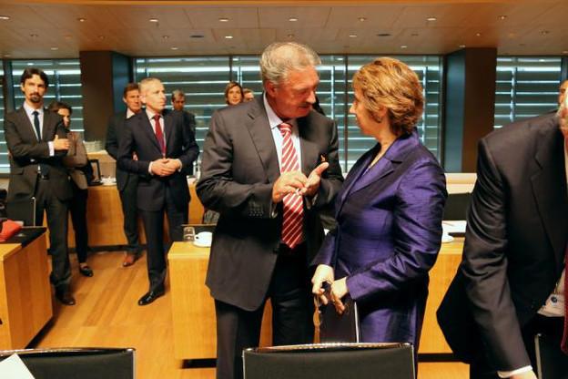 Jean Asselborn et Catherine Ashton, Haute Représentante de l'UE pour les Affaires étrangères et la Politique de sécurité. (Photo: MAEE)