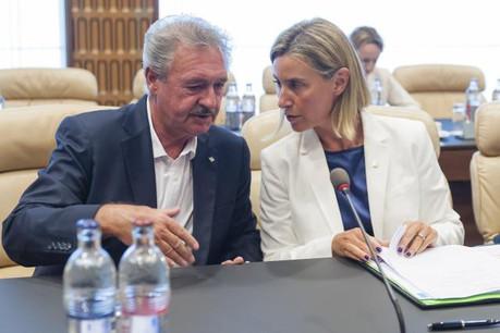 Jean Asselborn avait rencontré Federica Mogherini, Haute Représentante de l'Union pour les affaires étrangères et la politique de sécurité à Luxembourg le 4 septembre dernier lors d'une réunion informelle des ministres des Affaires étrangères.  (Photo: SIP)