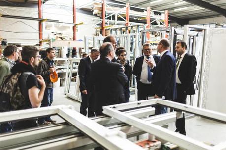 Visite de l'entreprise de menuiserie Servalux  (Photo: Gaël Lesure)